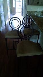 Set of three bar stools 100