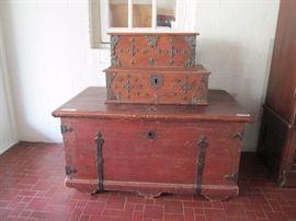 Antique oak chests