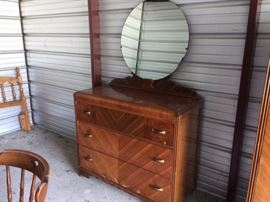 Nice waterfall dresser with mirror