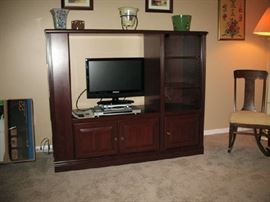 Entertainment center only.