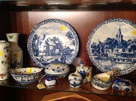 Lovely collection of Delft, many pieces personally imported from the Netherlands