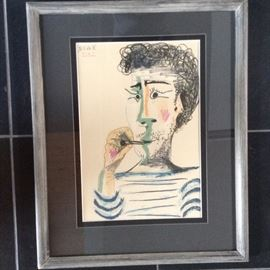 Signed Picasso lithograph