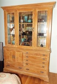 PICKLED PINE CABINET WITH MORE TREASURES