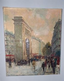 ORIGINAL OIL PAINTING OF PARIS BY R. BESSIER (A CATELOGUED ARTIST)