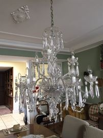 2 tiered, 9 arm WATERFORD CRYSTAL Chandelier