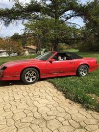 1987 Red Camaro convertible IROCZ28