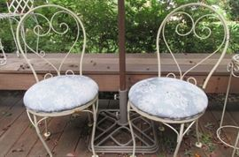 pair iron chairs