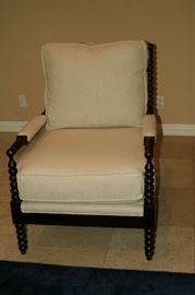 Set of 2 New Barclay Butera spindle armchairs
