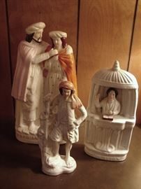 Staffordshire figures, antique.