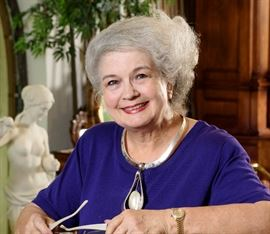 June Hayes in the Estate Sale Gallery at Los Patios, San Antonio. Jewelry from Renaissance Jewelry at Los Patios, Photo by Ash Bowie. Call 210-280-8451 to consign for this sale.