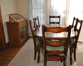Dining Table and Side Buffet