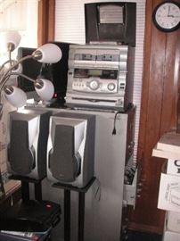 stereo system plus many more electronics
