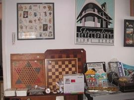 games, chess board, prints