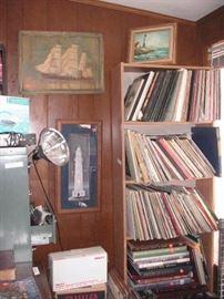 records, books...