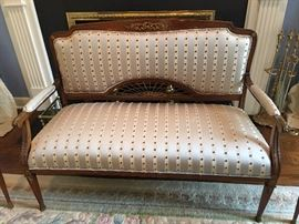 Antique settee with matching chairs