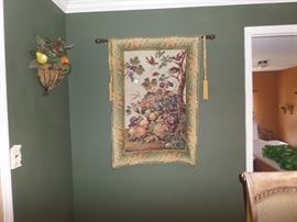 TAPESTRY WITH ROD AND HARDWARE