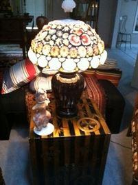 LOCAL ARTIST TIFFANY STYLE LAMP