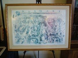 Leroy Nieman Large signed print of New York Stock Exchange