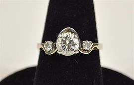 1 carat approximate weight, VS1, color H-I, 14K