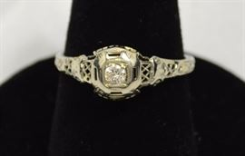 14K antique ring - two cases full of silver and gold jewelry