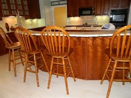 Four (4) bar stools - priced individually but call us if you want all 4.