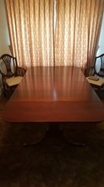 Duncan Phyfe six leg dining table