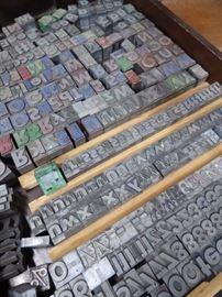 Metal printers letters