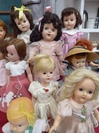 Large vintage doll collection