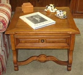 Thomasville End Table with a single drawer (1 of 2 shown)
