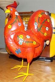 Funky metal rooster