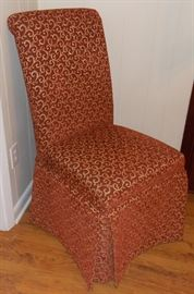 Maroon side chair