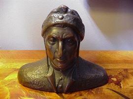 Bronze bust, Dante