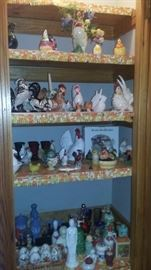 Massive amount of Chicken and Avon Collectibles