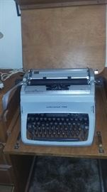 1960's Underwood Five Typewriter  Mid century Typewriter Desk