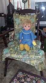 yes, Mrs. Beasley 1964 on an antique Potty Chair