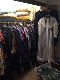 Closets full of clothes many new with tags and some cute vintage