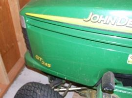 MODEL NUMBER GT 245 - JOHN DEERE
