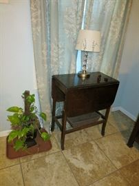 Vintage Drop Leaf Accent Table