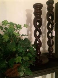 Barley twist candle sticks