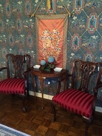 2 Chippendale chairs