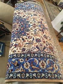 """Persian Isfahan 5.5 x 3.67 silk on wool Shah Abass """"Birds of Paradise"""" handwoven rug  $2,400"""