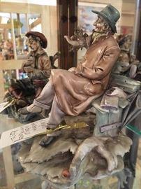 Pair of figurines by the master Antonio Borsato, in excellent condition
