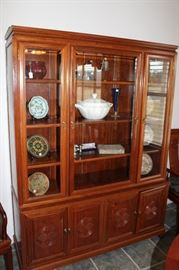 rosewood china hutch