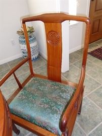rosewood chairs oriental style