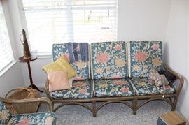 furniture wicker sunroom sofa