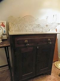 Marble Top Victorian Washstand