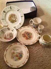 Beatrix Potter Dishes and Royal Doulton Bunnykins collection