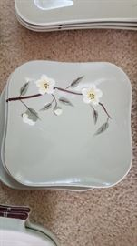 Blossum Celadon by Weil Ware. 1950's. Excellent condition. Approx 50pieces. $200