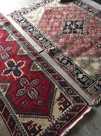 handmade wool on wool rugs - runner and 4 x 6