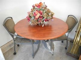 Small Dining Table with Two Chairs